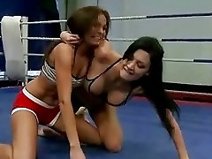 Aletta Ocean fighting with hot brunette