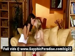 Caprice and Suzan brunette and blonde lesbos licking and fingering pussy and having lesbo sex