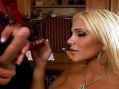 Pretty blonde busty secretary get a dick
