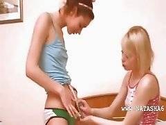 Russian teen getting kinky with teen