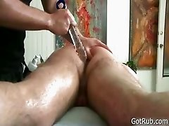 Dude gets massaged and toy fucked 5