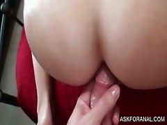 Anal sex with excited blonde amateur