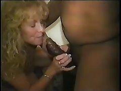 Mature slutty white wife takes black seed