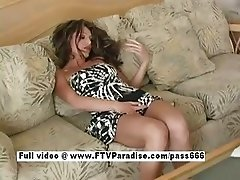Isabella superb redhead girl on a couch