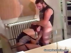 Two horny couples fucks like some crazy part1