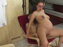 pregnant woman,hard anal
