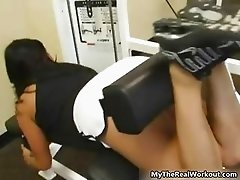 Sexy brunette babe gets horny opening part6