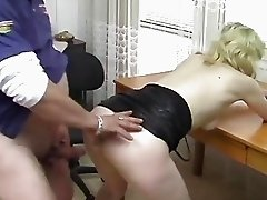 German blonde banged on the desk - Acheron