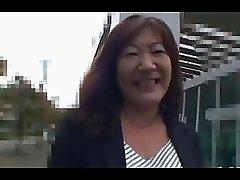 52Yo Hairy Japanese Granny Michiko Okawa Pt.  1 Uncensored
