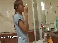 Ivanas morning fucking in the bathroom