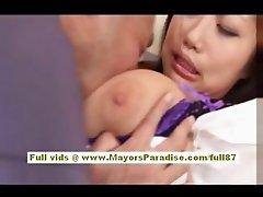 Anri Hosizaki Asian doll gets her boobs licked