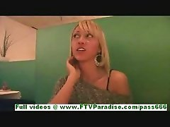 Katrina naughty blonde girl talking and flashing