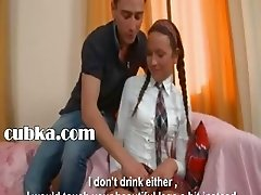 Hot lesson of charming russian teen