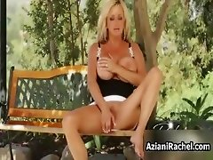 Horny blonde mif goes crazy masturbating part6