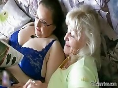 Horny granny loves having lesbian sex part4