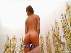 estonian babe Natasha in the hot shower