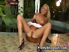 Blond slutty babe working on a huge part2