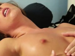 Busty lesbian masseuse and client