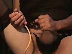 Miss Jody fills her sissy's pussy