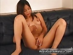 Real asian masturbating with her part5