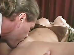 Cock slut Brittney Skye slurps and sucks the cum from a hard pink bell end