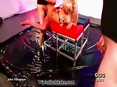 Two filthy blonde sluts in horny outfits part5