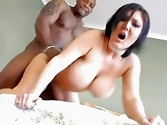 Claire Dames catches her breath as a huge black manpole spears her lusty snatch