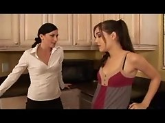 Lesbian licking and play with strapon 04