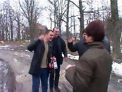 RUSSIAN MATURE GETS GANGBANGED