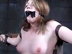 Restrained Harley Ace toyed and teased by maledom master BDSM