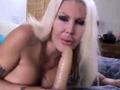 Big Tit Horny Blonde Milf Masturbates Pussy