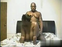 Black dude bangs his big tits girlfriend in homemade sextape