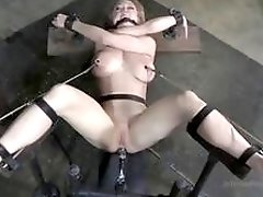 Sub slut Dee Williams caged and toyed by master BDSM