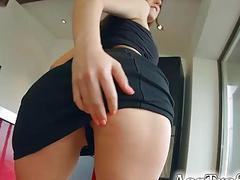 Naughty Spanish sexslut Amelia Lyn visits us fo