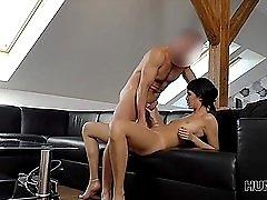 Cute girl cuckolds her boyfriend for cash