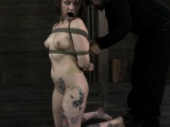 Mouth gagged skank visiting dungeon