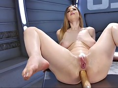 rich breasted ivory dame stella cox orgasms on terminator dildo