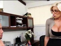Fucking My Blonde Big Tit Boss Puma Swede