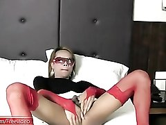 Tight tgirl asshole sits down on a hard dick
