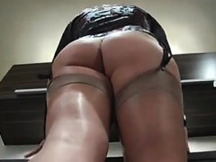 Kinky young woman loves being filmed while putting on her s