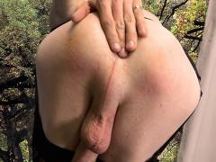 Beautiful stockinged femboy wanking hard cock