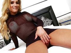 Big tits blonde shemale gets anal fucked