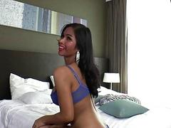 Asian Tgirl Pukluk gets her tight ass whacked