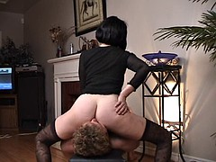 Licking ass