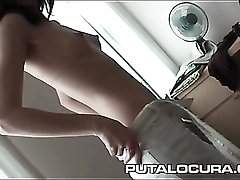 Skinny cutie gives a porn blowjob for the first time