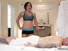 FMT Buck Angel fucks Masseuse Tori Mayes