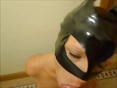 Catwoman gets a sticky facial
