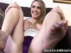 Feet interracially fucked