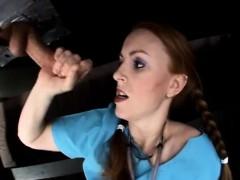Redhead femdom in Kinky Gloryhole fetish