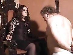 Hot mistresses face slap their submissive bound slaves BDSM porn